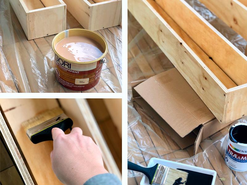 Træbeskyttelse og maling af altankasser