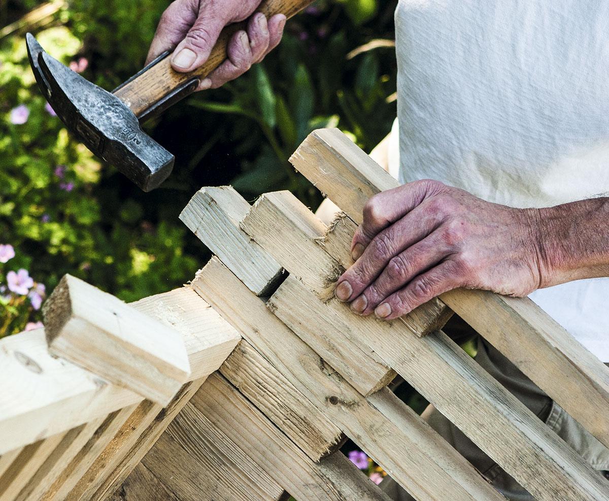 Brug de overskydende stumper til at få en pæn afslutning