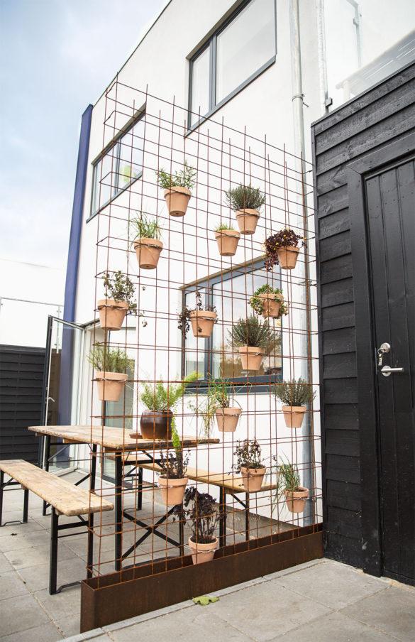 Vertikal have lavet af et espalier