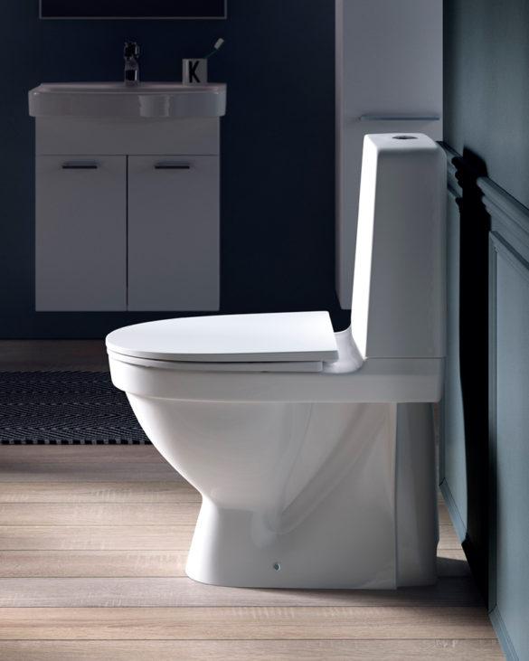 Montér gulvstående toilet
