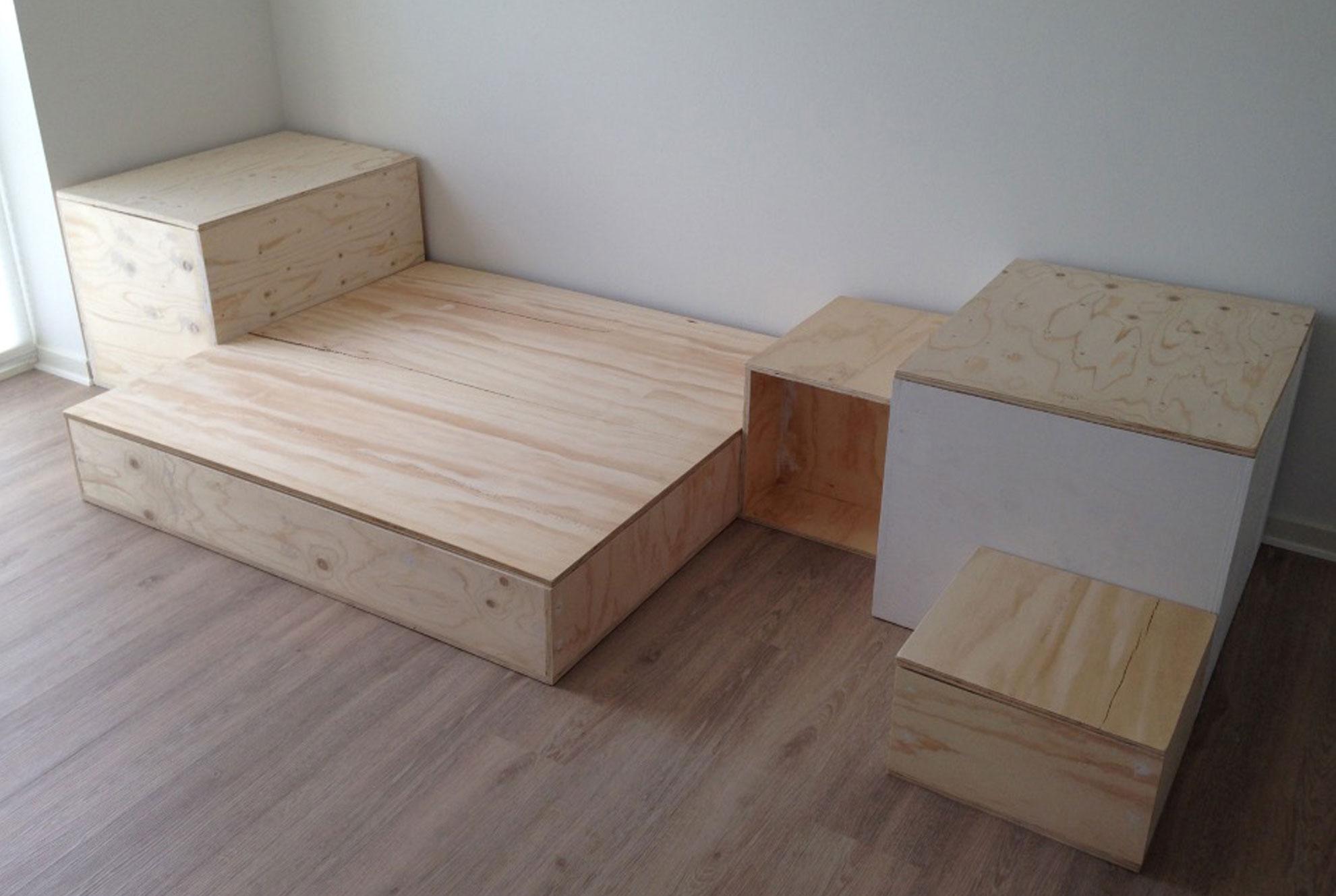 Hænge-ud-møbel krydsfiner