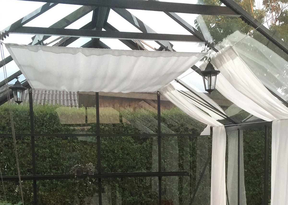Skyggegardiner i drivhus