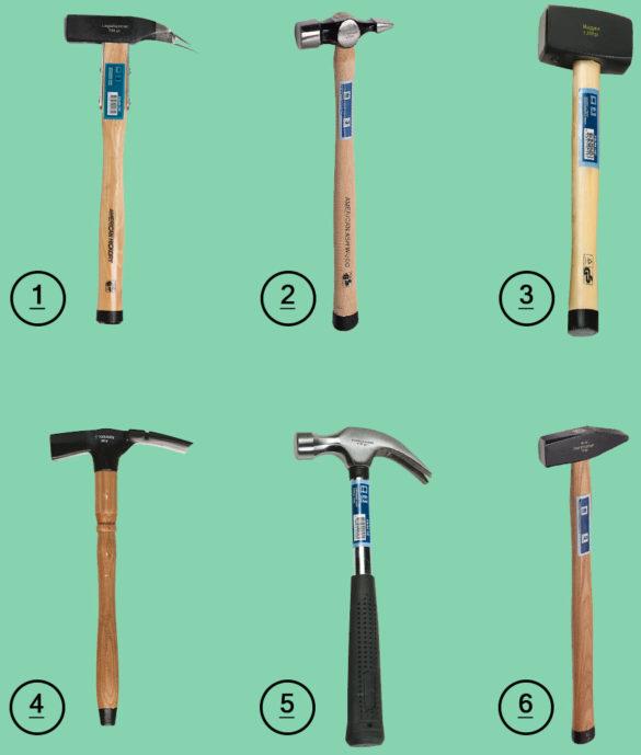 Vælg den rette hammer