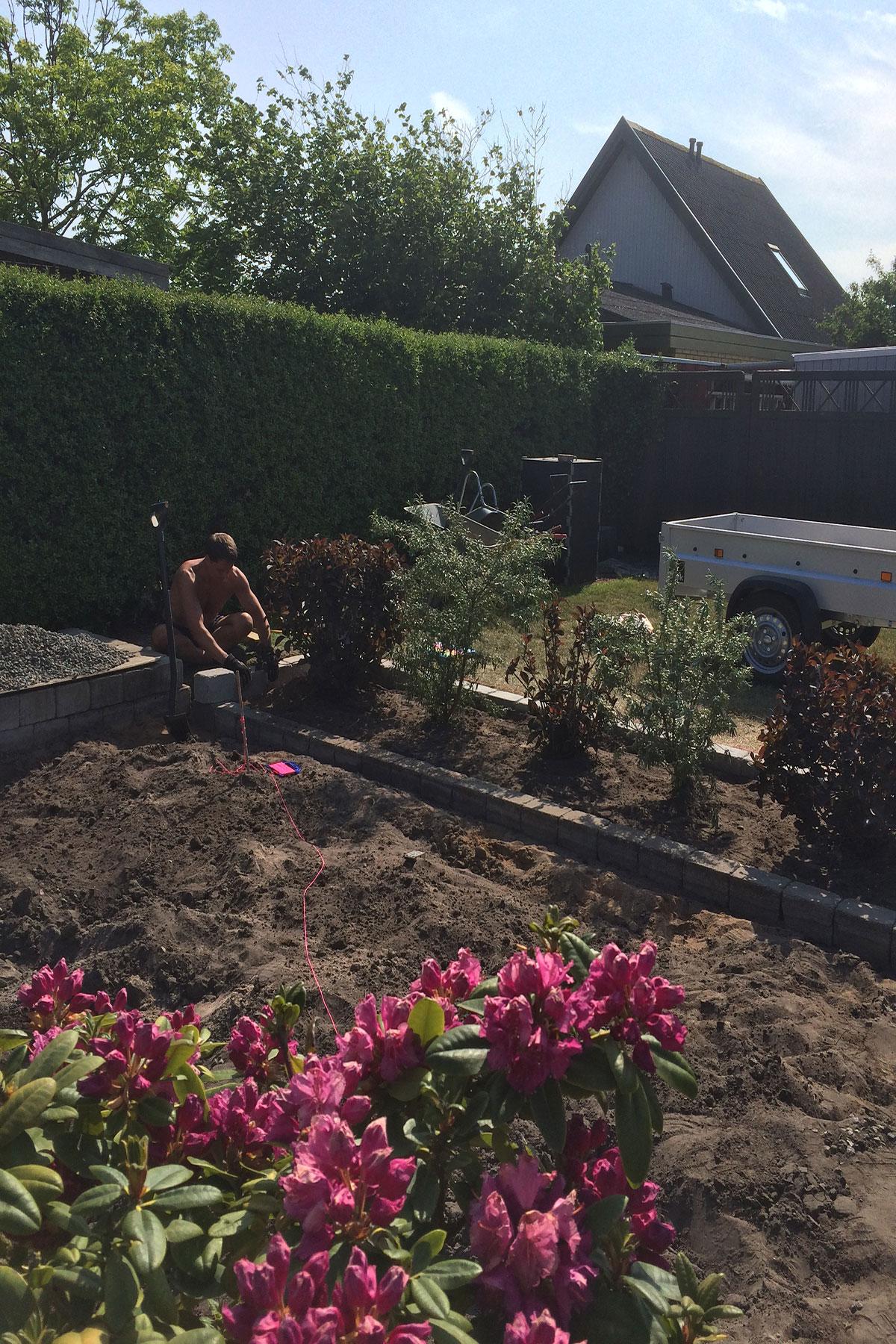 Udgravning til drivhus