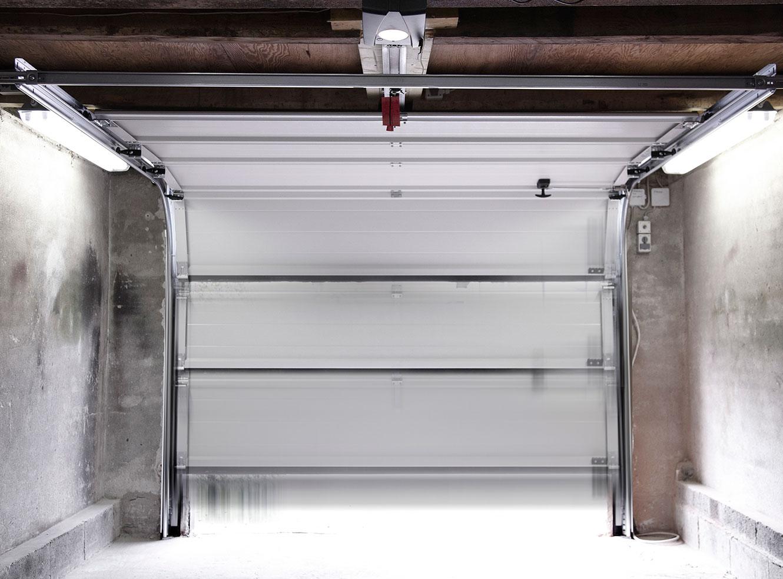 Garageport samlet og færdig