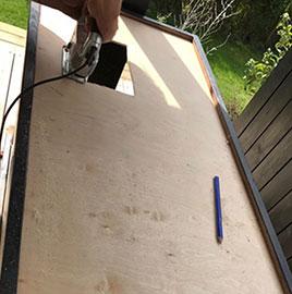 Bordplade til overdækket udekøkken
