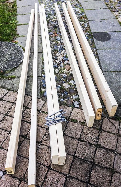 Genbrug spærene fra overdække terrasse til en bænk