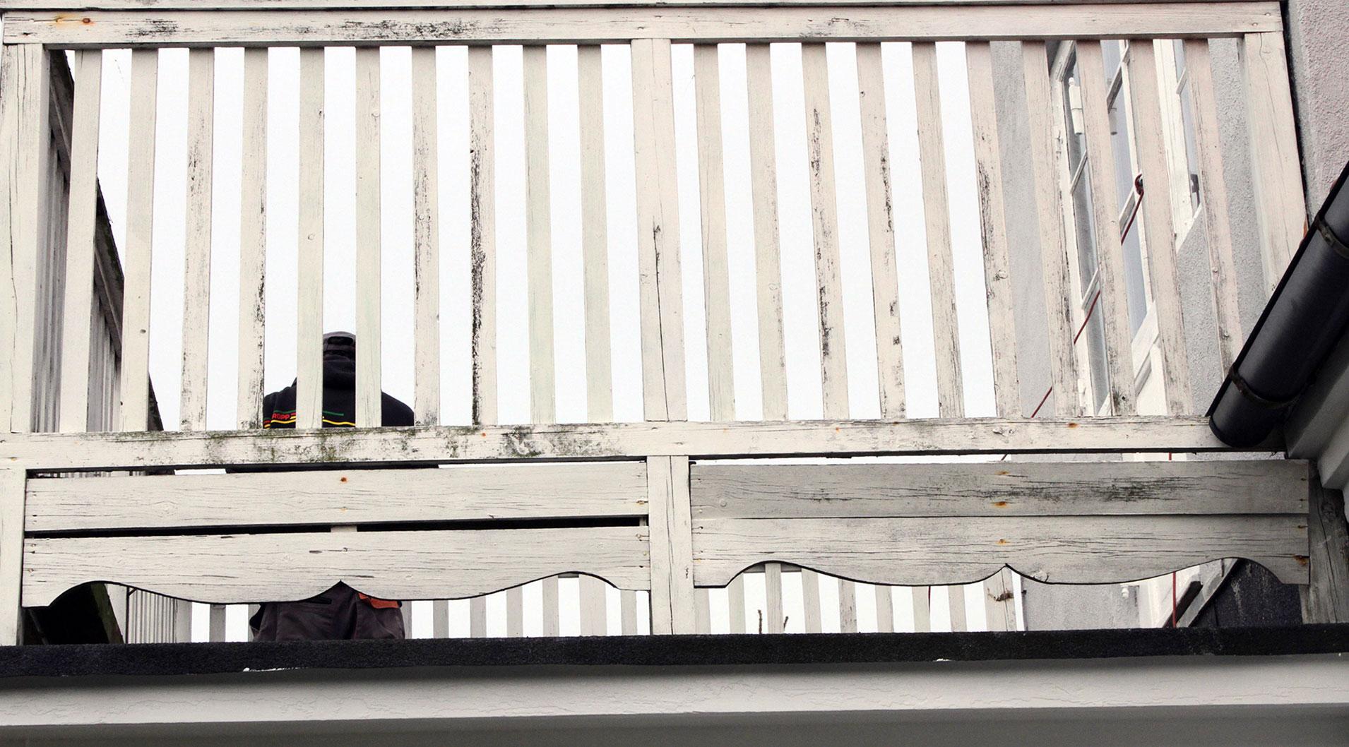 Solstue med balkon