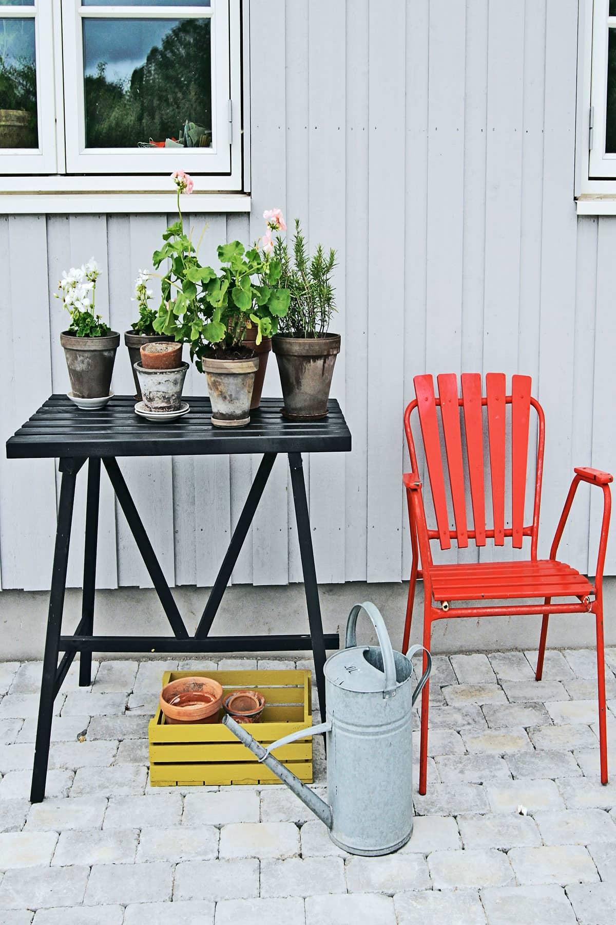 Møbler på veranda