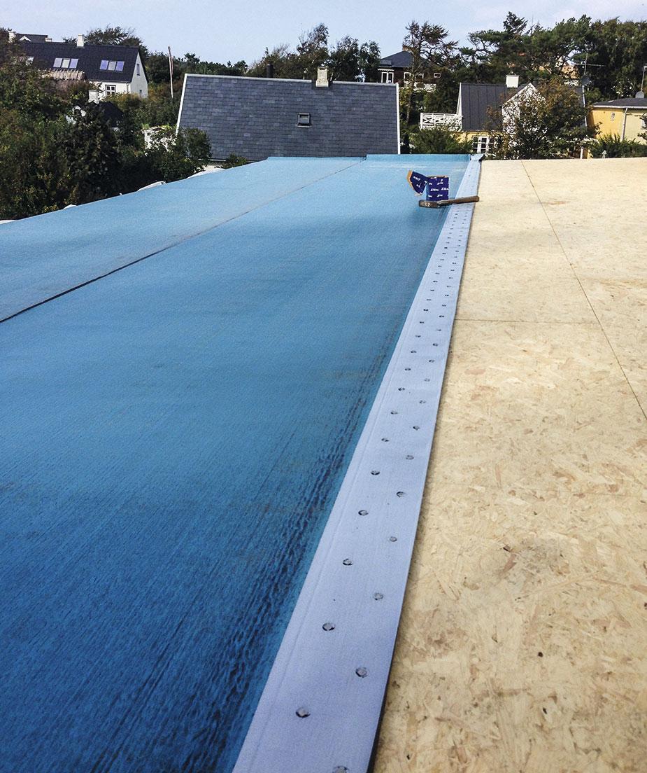 Tagpap under pladerne til overdækket terrasse