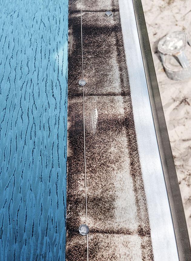 Alu-tagfodsskinne på havehus