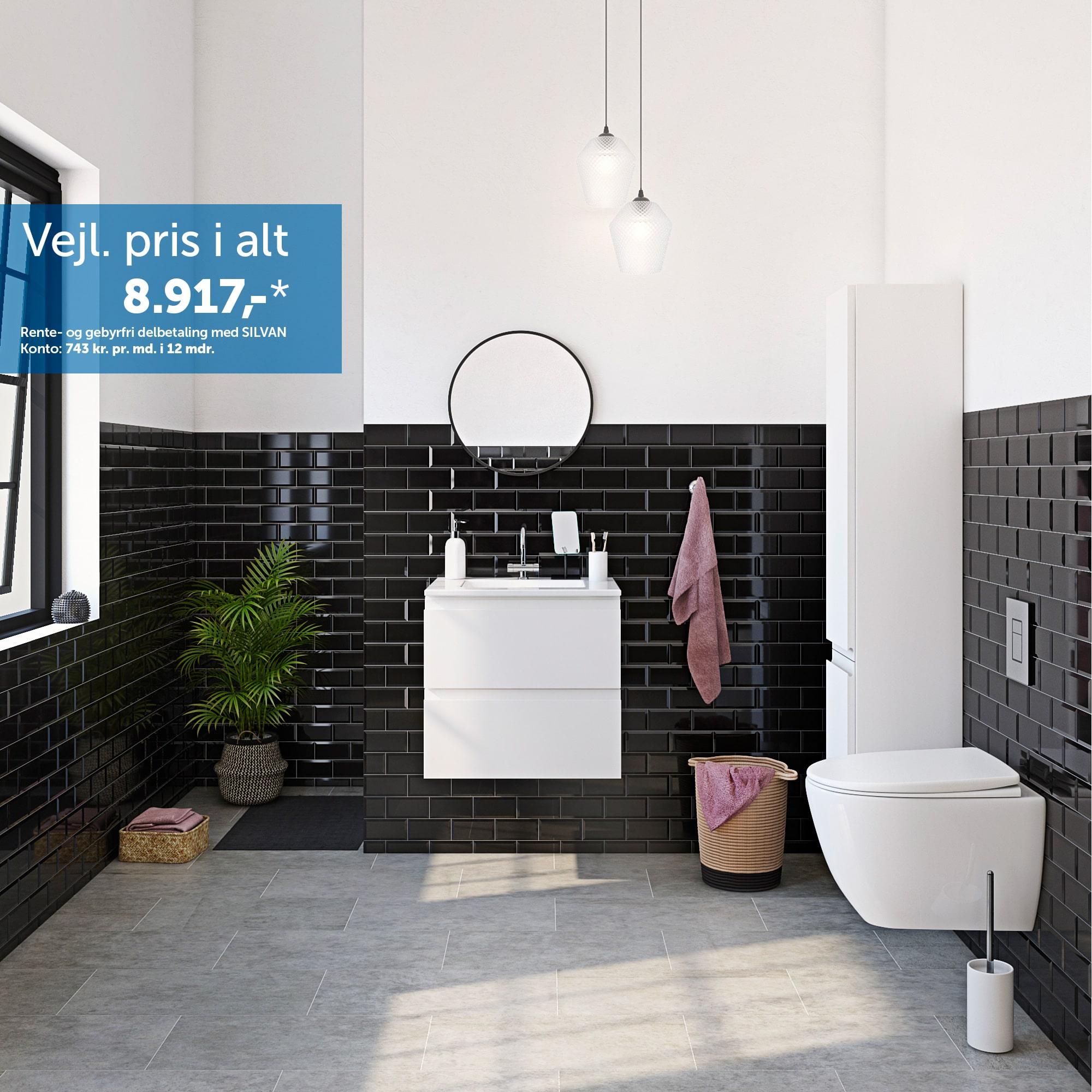 Inspiration til det mellemstore badeværelse