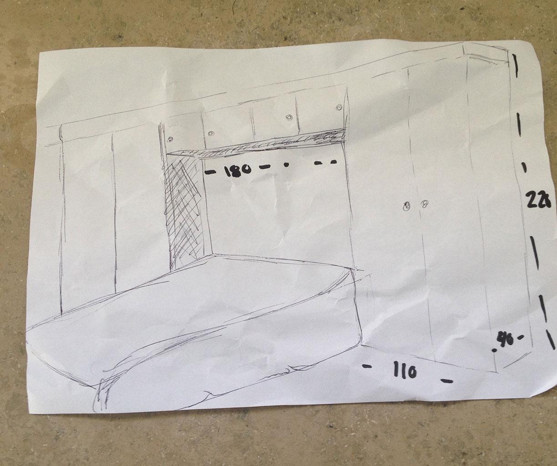 Måltegning til soveværelse