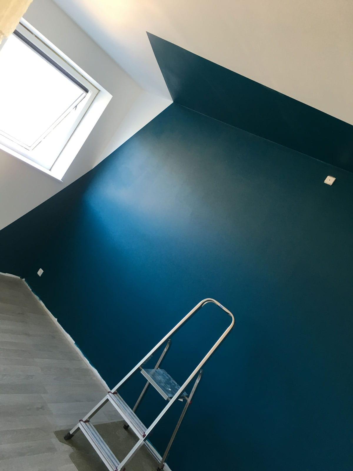 Skævt malede vægge