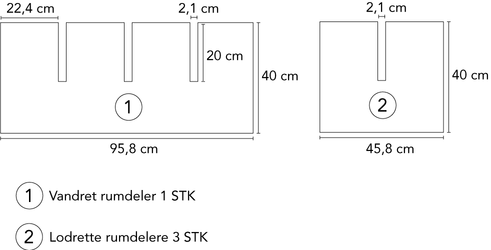 Badeværelsesmøbel i birk arbejdstegning