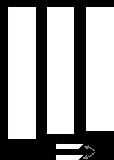 Enkelt garderobemøbel af MDF-plader arbejdstegning