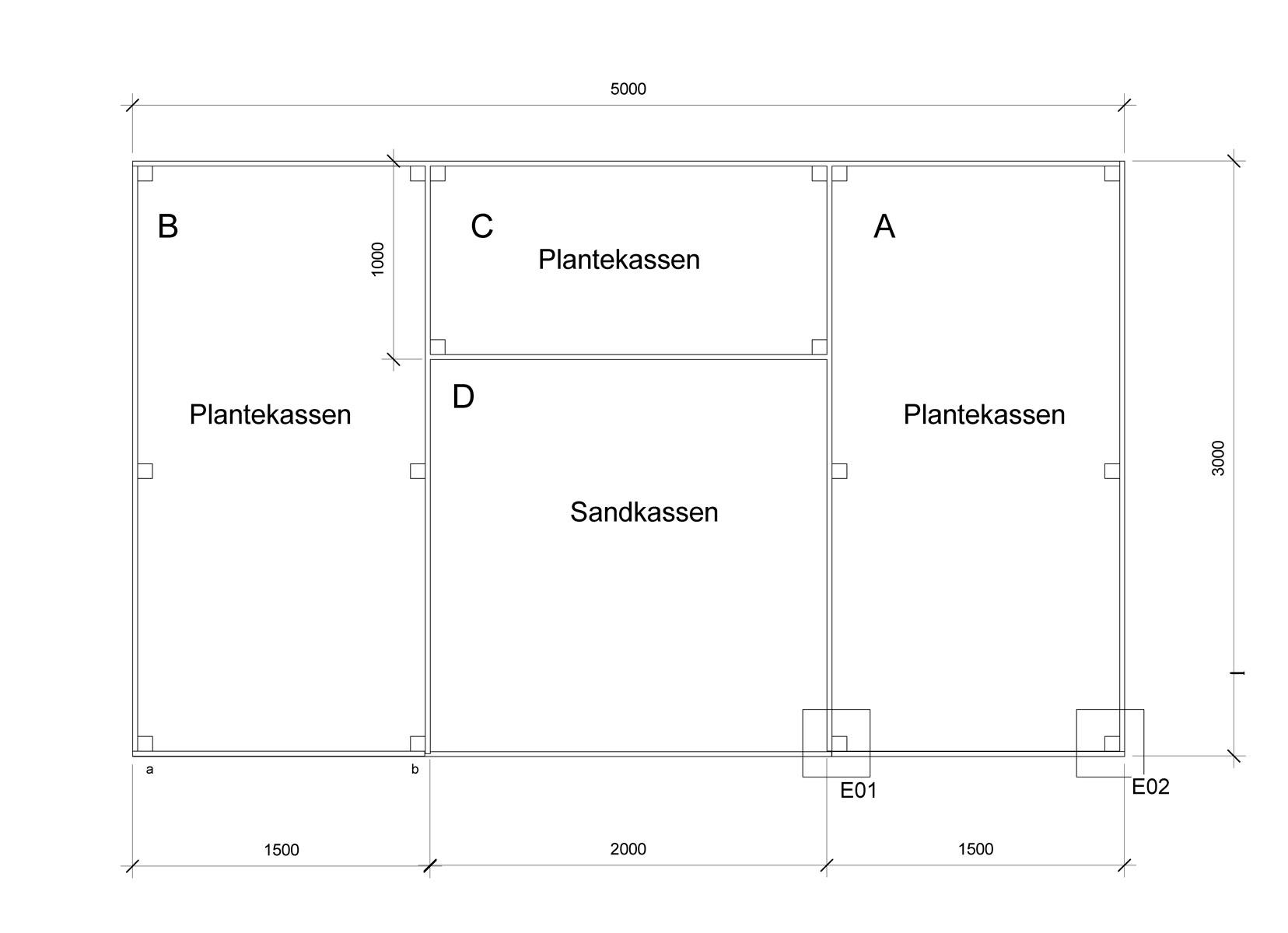 Plantekasser arbejdstegning 5