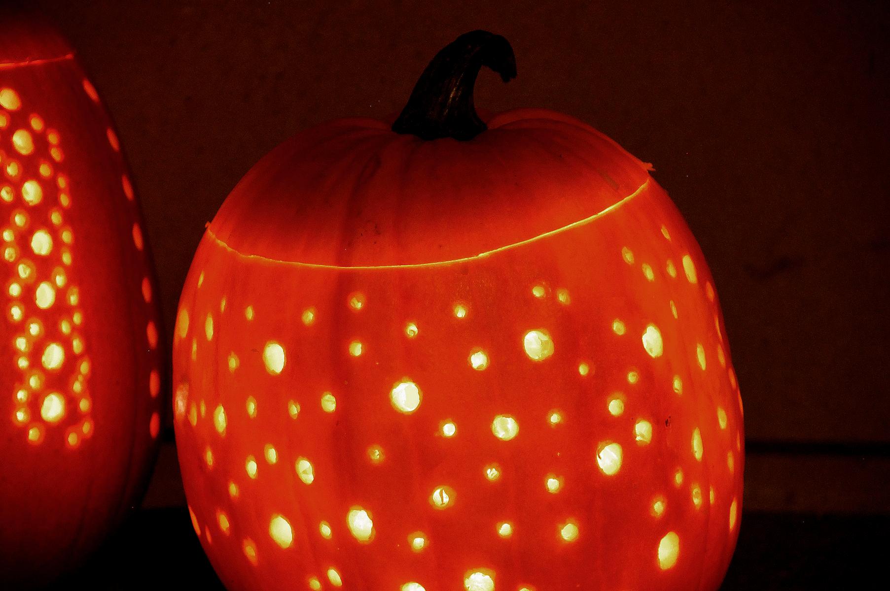 anderledes græskarlygte til Halloween