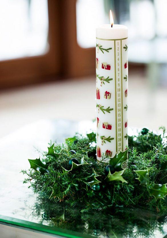 Kalenderlys i lille grøn rede