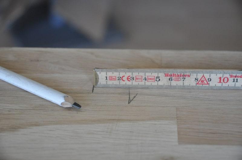 Udskæring af bordplade - Scandiwood
