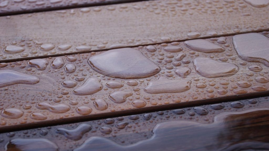 Træterrasse behandlet med terrasseolie