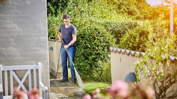 Rengør din terrasse med en højtryksrenser fra Nilfisk